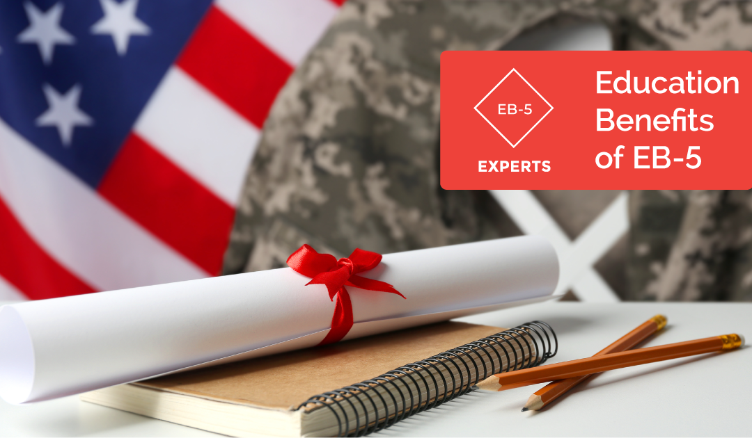 What educational benefits are there for an EB-5 applicant and their dependents?